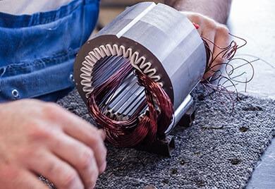 Rewinding an electrical motor